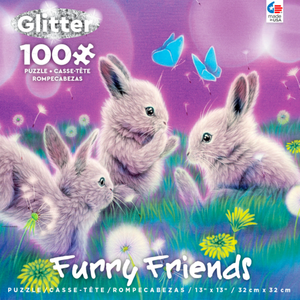ceaco Ceaco - 100 Piece Puzzle: Glitter Furry Friends - Spring Has Sprung