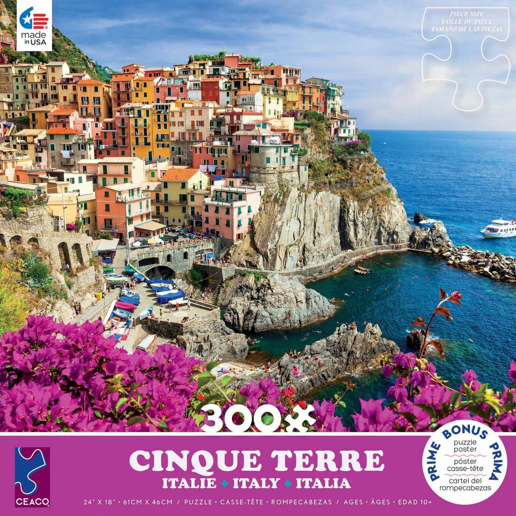 ceaco Ceaco - 300 Piece Puzzle (Oversized Pieces): Scenic Photography - Cinque Terre