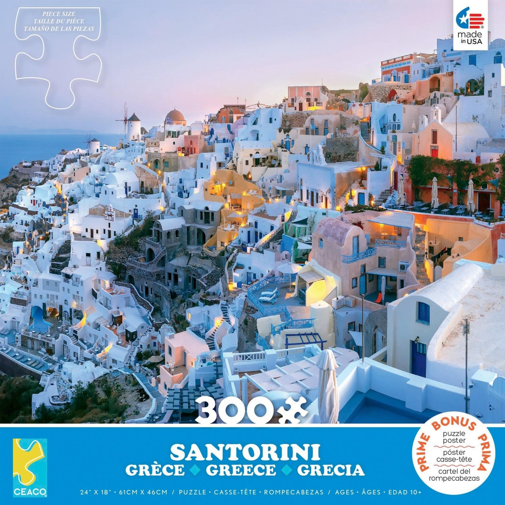 ceaco Ceaco - 300 Piece Puzzle (Oversized Pieces): Scenic Photography - Santorini