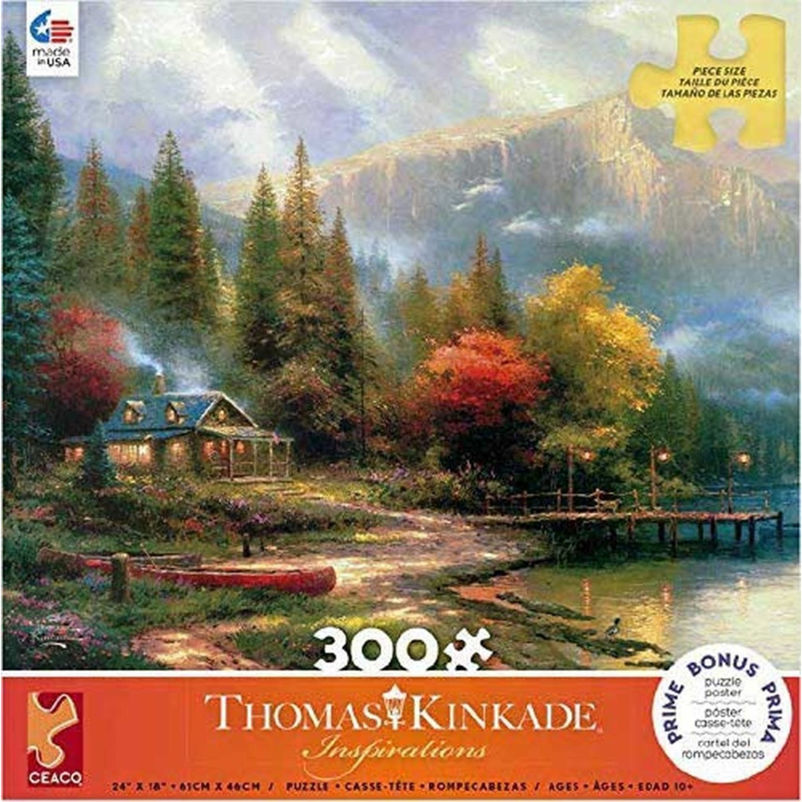 ceaco Ceaco - 300 Piece Puzzle (Oversized Pieces): Thomas Kinkade - End of Perfect Day III