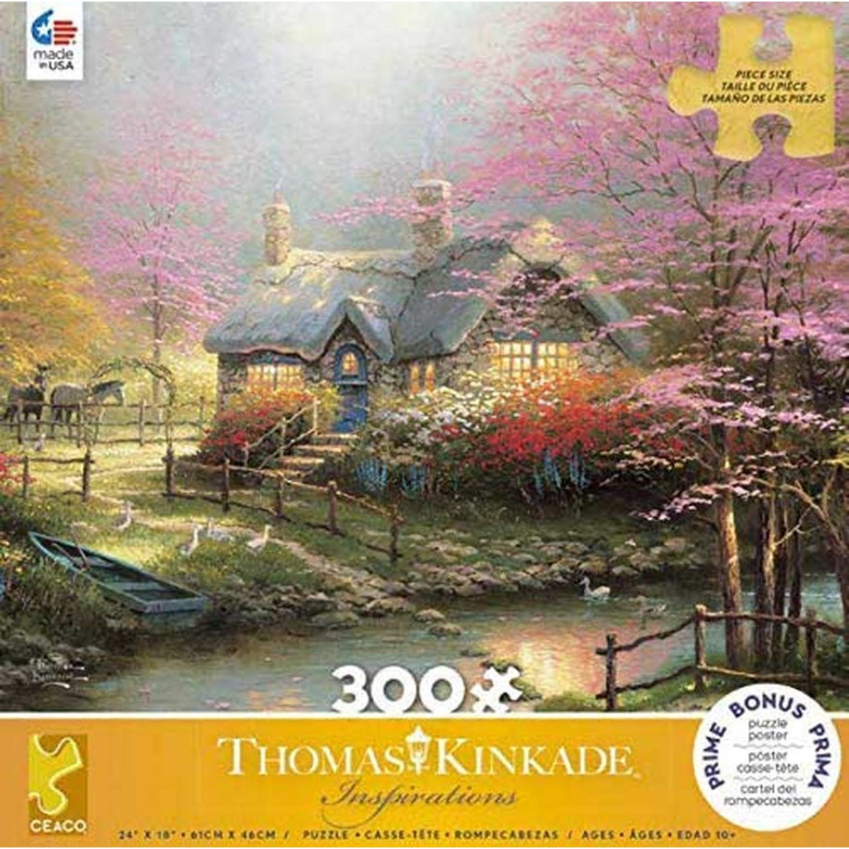 ceaco Ceaco - 300 Piece Puzzle (Oversized Pieces): Thomas Kinkade - Stepping Stone Cottage