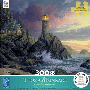 ceaco Ceaco - 300 Piece Puzzle (Oversized Pieces): Thomas Kinkade - Rock of Salvation