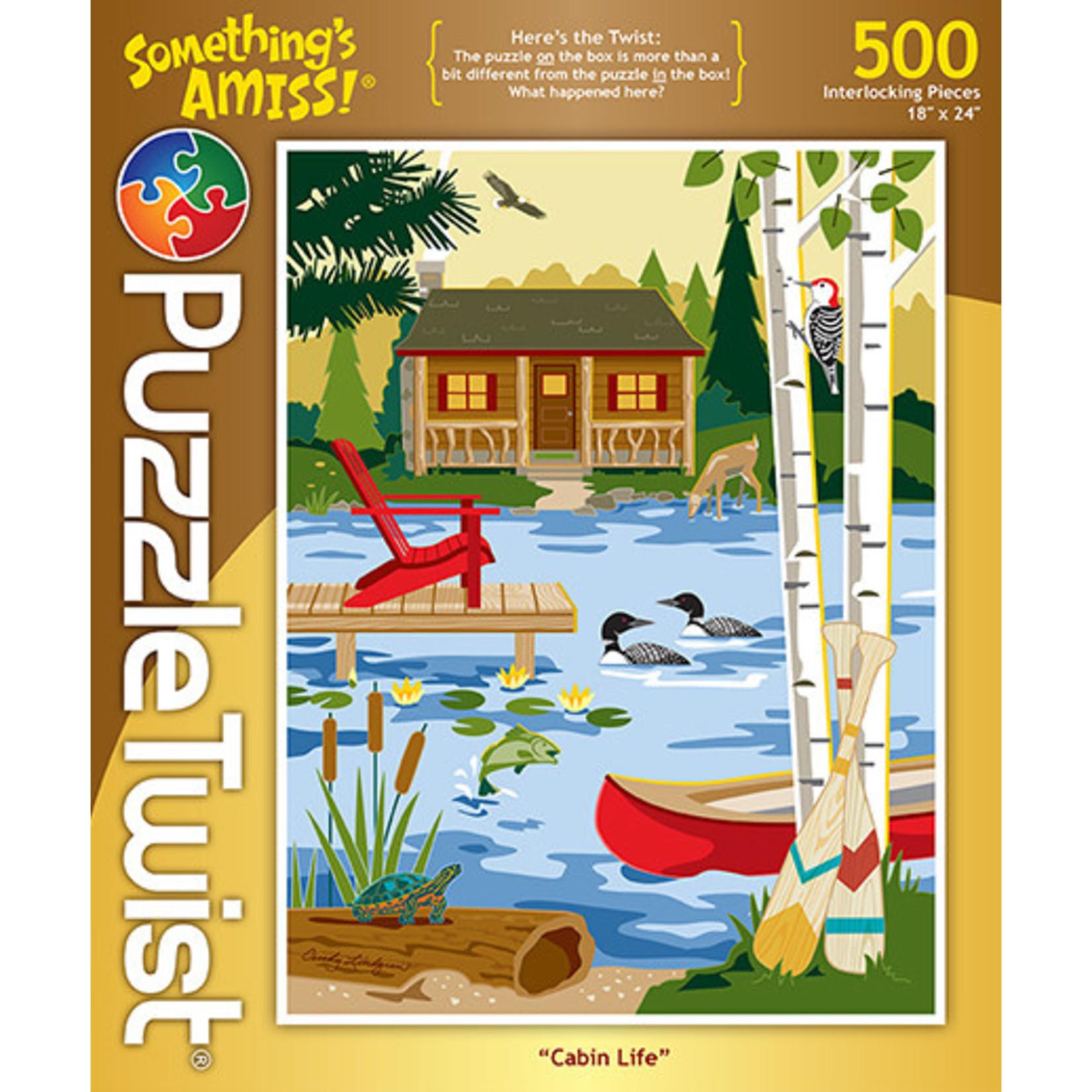 Puzzle Twist Puzzle Twist - 500 Piece Puzzle: Cabin Life