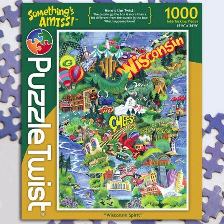 Puzzle Twist Puzzle Twist - 1000 Piece Puzzle: Wisconsin Spirit