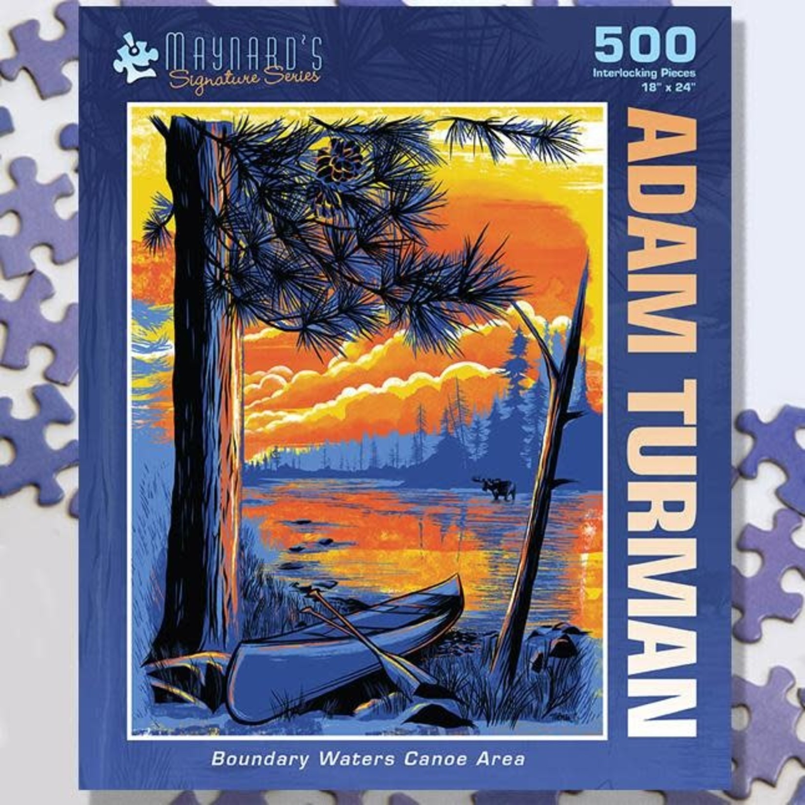 Puzzle Twist Maynard's Signature Series - 500 Piece Puzzle: Boundary Waters Canoe Area