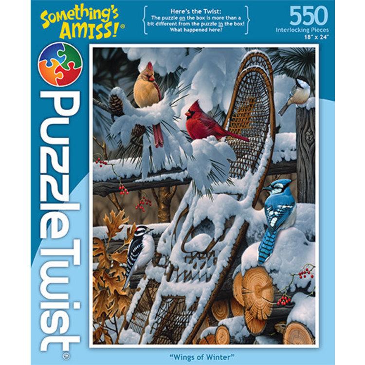 Puzzle Twist Puzzle Twist - 550 Piece Puzzle: Wings of Winter