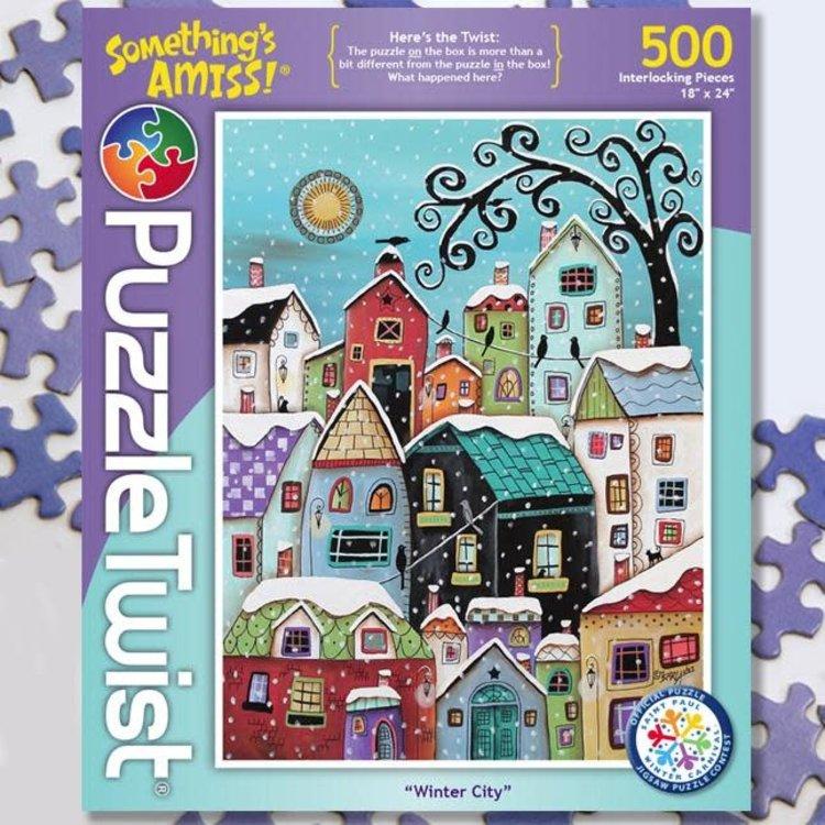 Puzzle Twist Puzzle Twist - 500 Piece Puzzle: Winter City