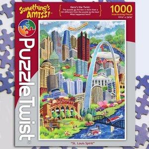 Puzzle Twist Puzzle Twist - 1000 Piece Puzzle: St. Louis Spirit