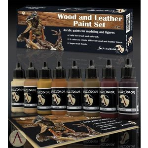 Scale75 Scale75: Wood and Leather Paint Set