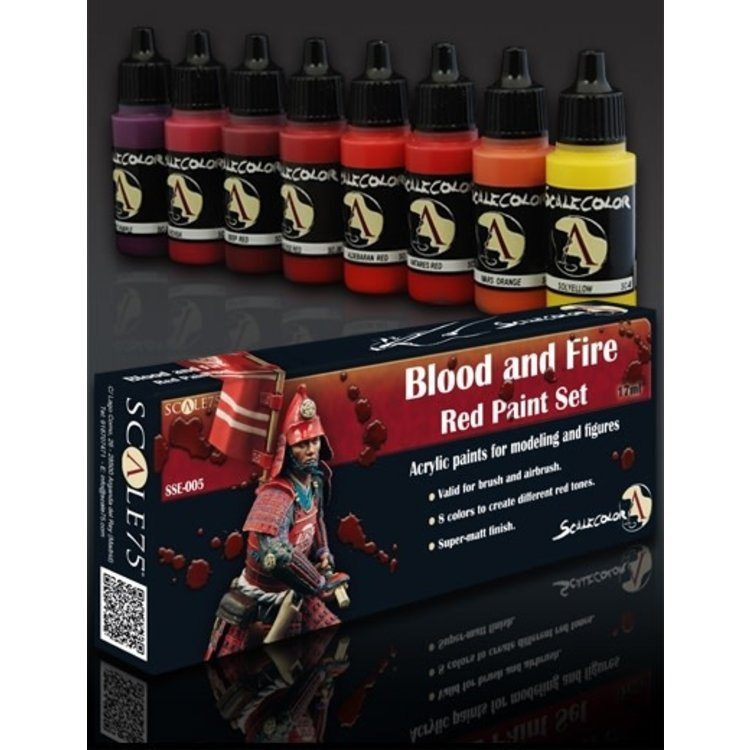 Scale75 Scale75: Blood and Fire (Red) Paint Set