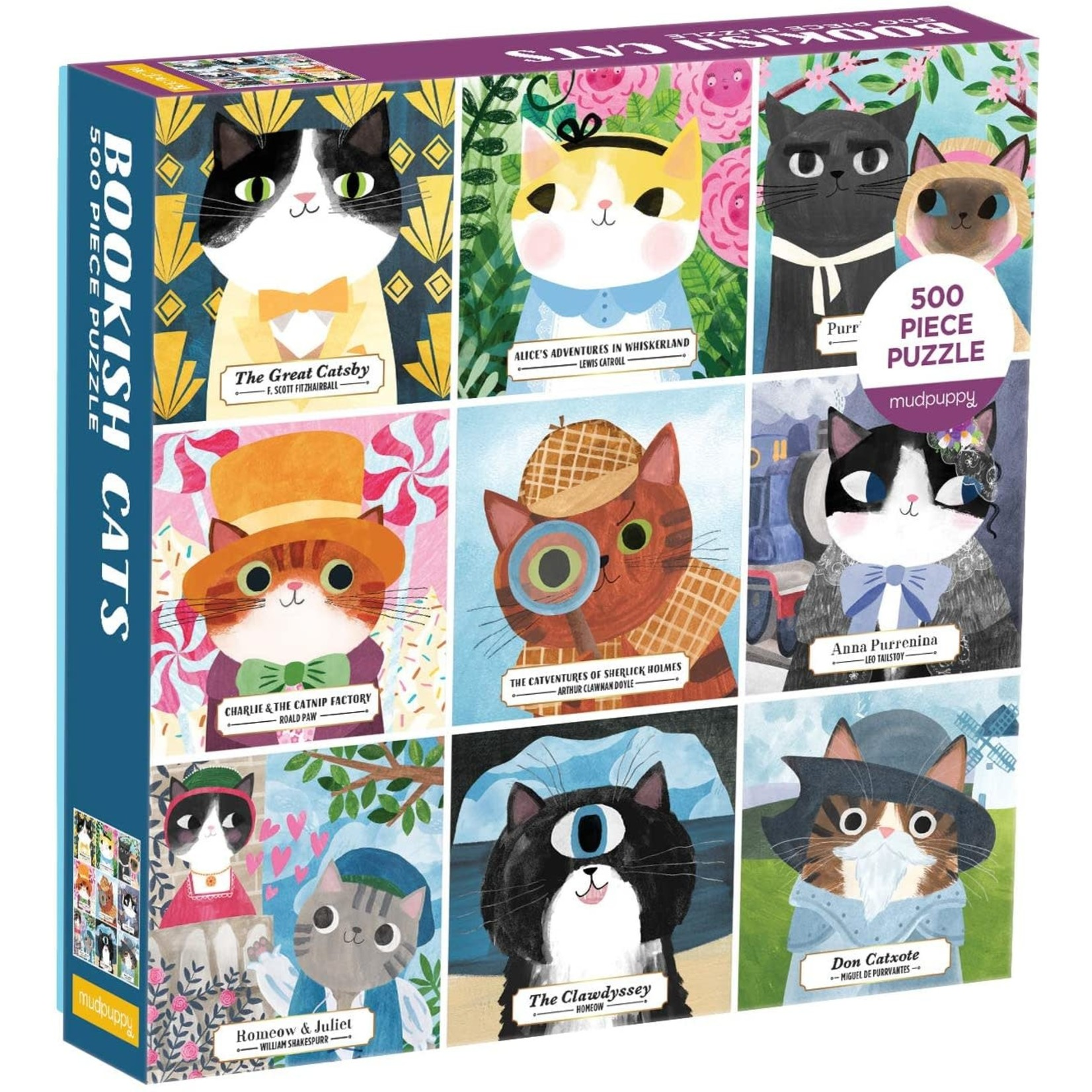 Mudpuppy Mudpuppy - 500 Piece Puzzle: Bookish Cats