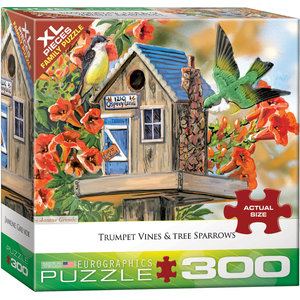 Eurographics Eurographics Puzzle: Trumpet Vines & Tree Sparrows - 300pc