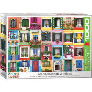 Eurographics Eurographics Puzzle: Mediterranean Windows - 1000pc