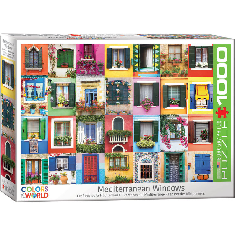 Eurographics Eurographics Puzzle: Mediterranean Windows - 1000pc