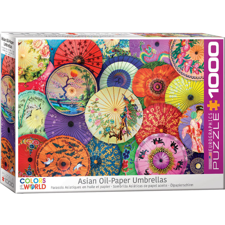 Eurographics Eurographics Puzzle: Asian Oil-Paper Umbrellas - 1000pc