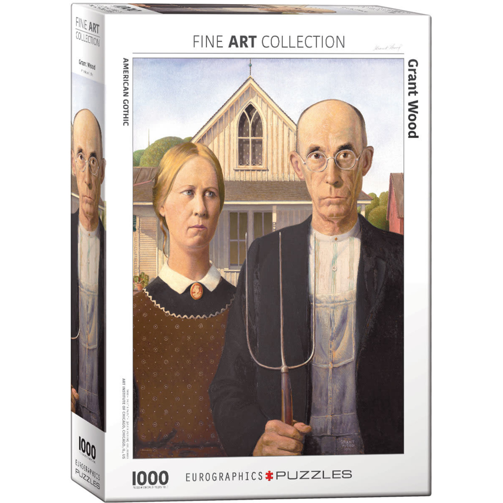 Eurographics Eurographics Puzzle: American Gothic by Grant Wood - 1000pc