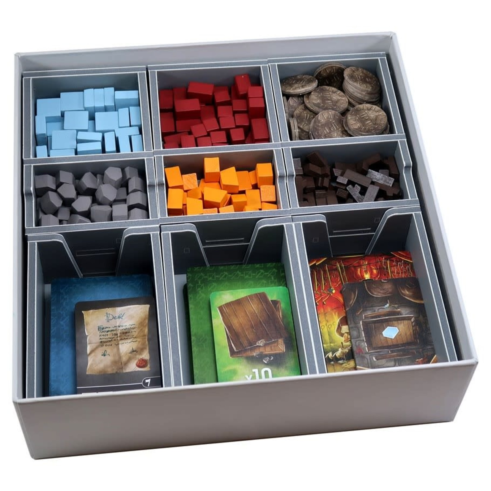 Folded Space Box Insert: Architects of the West Kingdom, Age of Artisans Expansion, and Architects 2018 KS Promos Pack