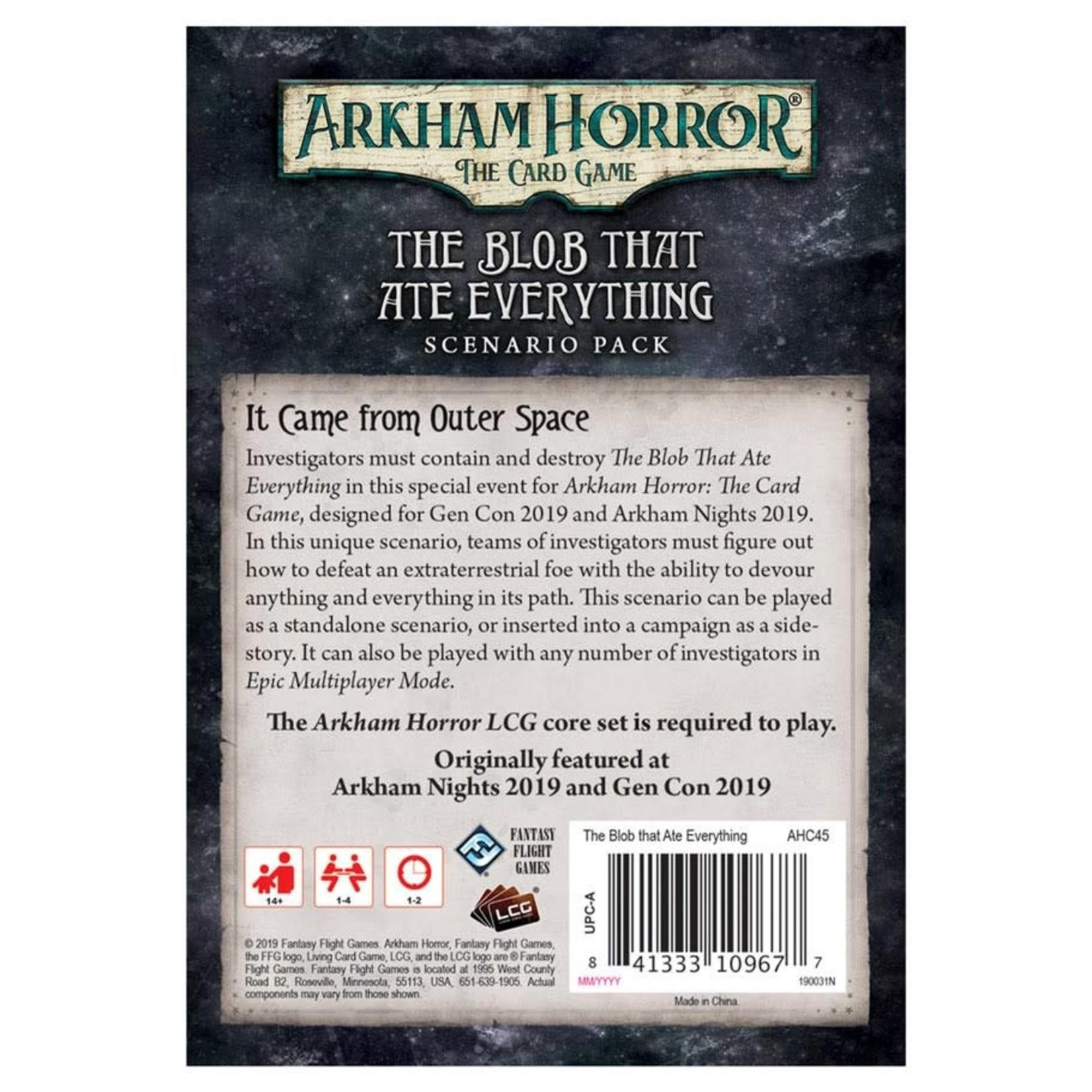 Fantasy Flight Games Arkham Horror LCG: The Blob That Ate Everything