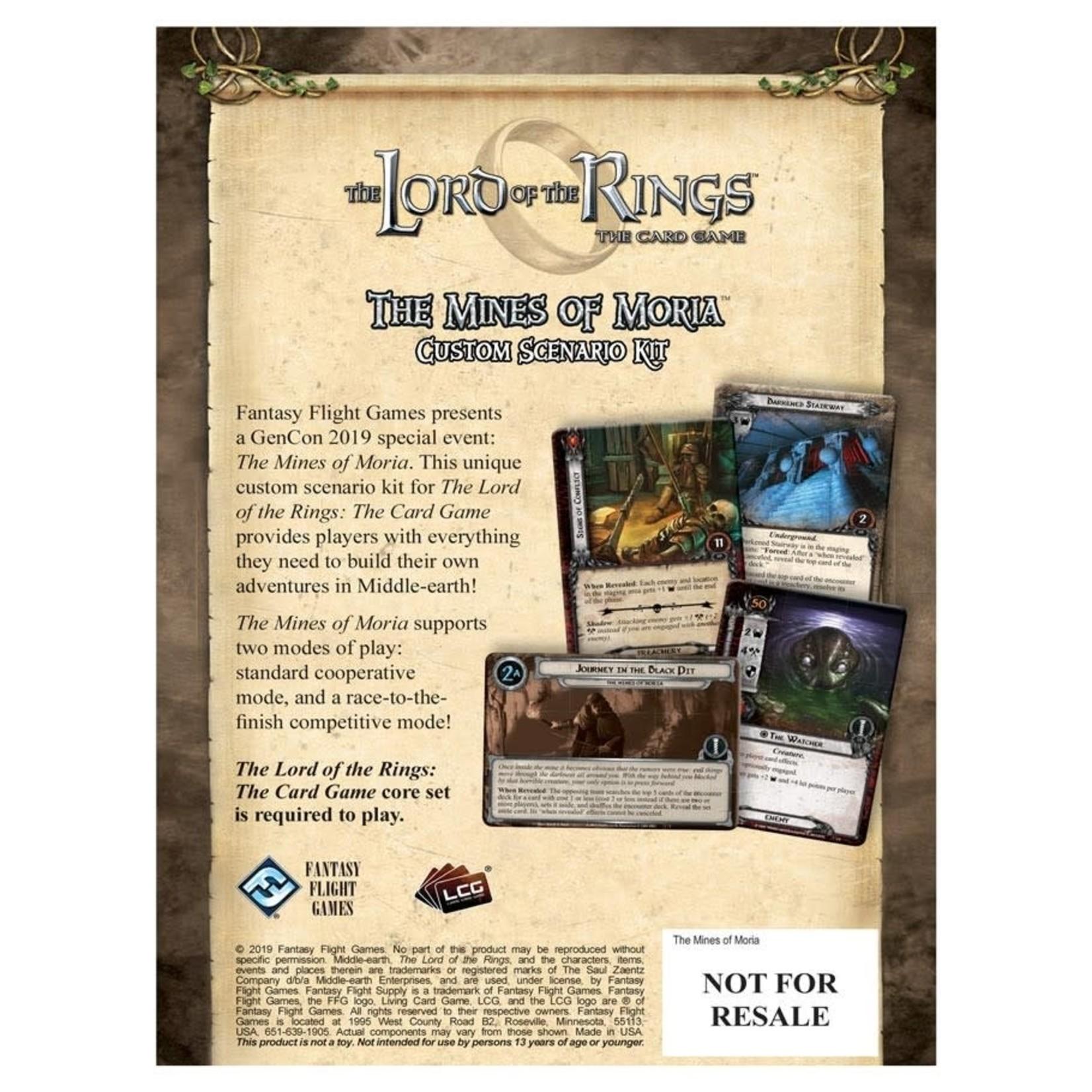 Fantasy Flight Games Lord of the Rings LCG: The Mines of Moria Custom Scenario Kit