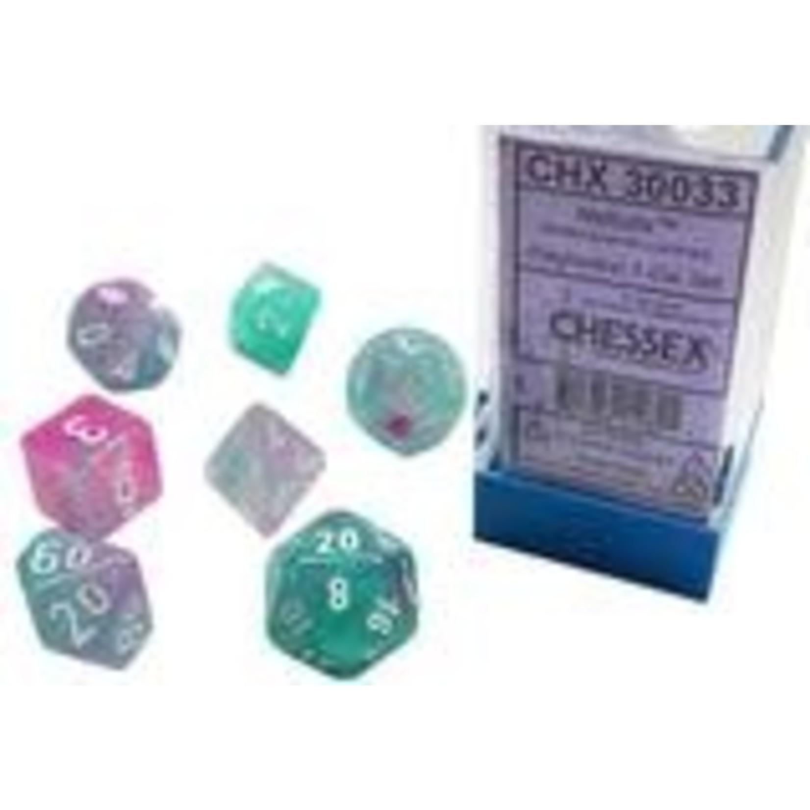 Chessex Chessex 7-Set Dice: Nebula - Wisteria/White Luminary 30033