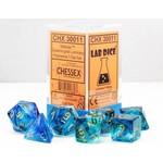 Chessex Chessex 7-Set Dice: Nebula - Oceanic/Gold Luminary 30011