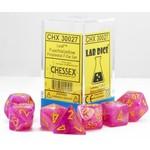 Chessex Chessex 7-Set Dice: Leaf - Fuschia/Yellow Luminary 30027