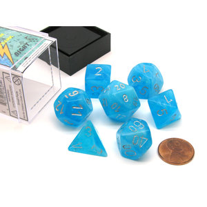 Chessex Chessex 7-Set Dice: Luminary - Sky/Silver 27566