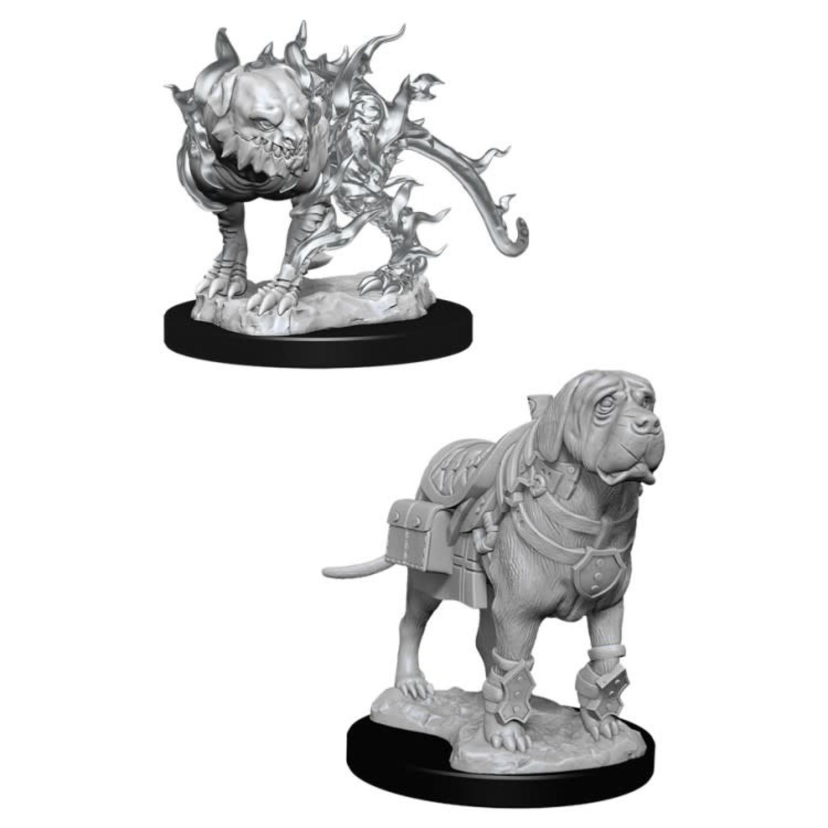 WizKids D&D Nolzur's Marvelous Miniatures: Mastif & Shadow Mastif (W11)