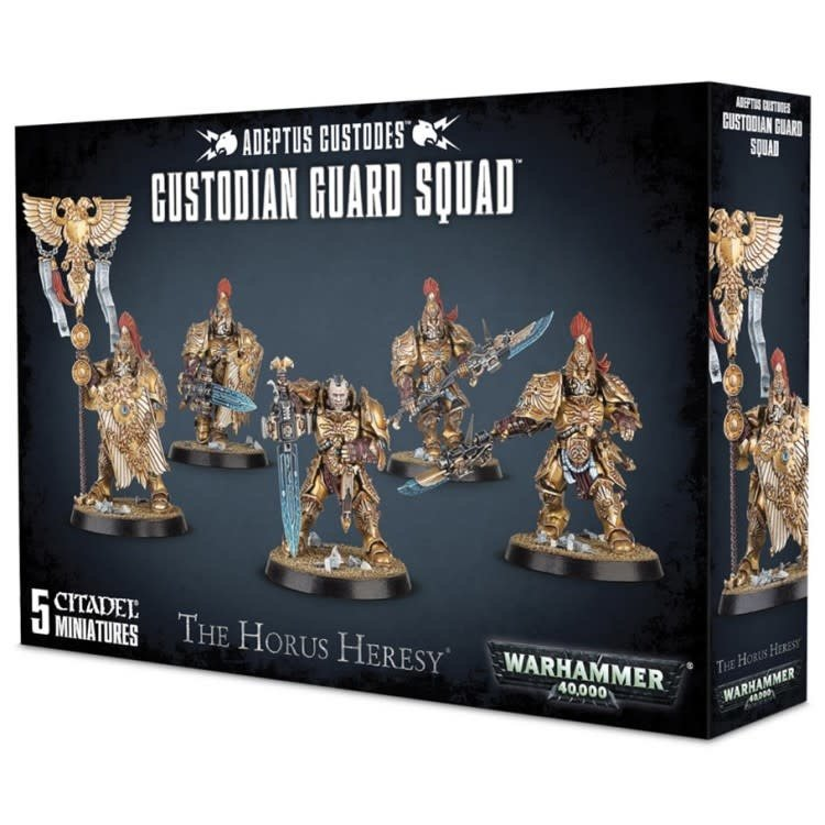 Games Workshop Warhammer 40k: Adeptus Custodes Custodian Guard Squad