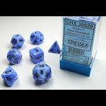 Chessex Chessex 7-Set Dice: Vortex - Snow Blue/Black 30029