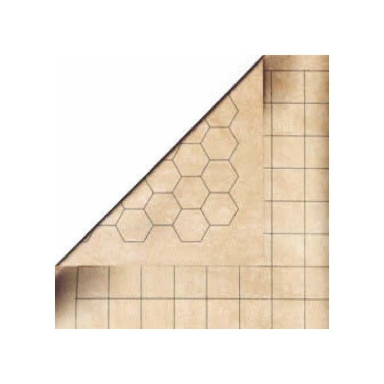 Chessex Chessex: Reversible Battlemat 23.5x26 1.5 Inch Squares/Hex