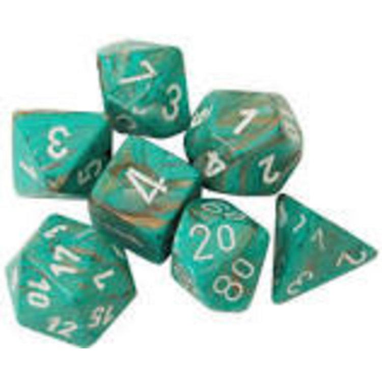 Chessex Chessex 7-set Marble Oxi Copper/White - 27403