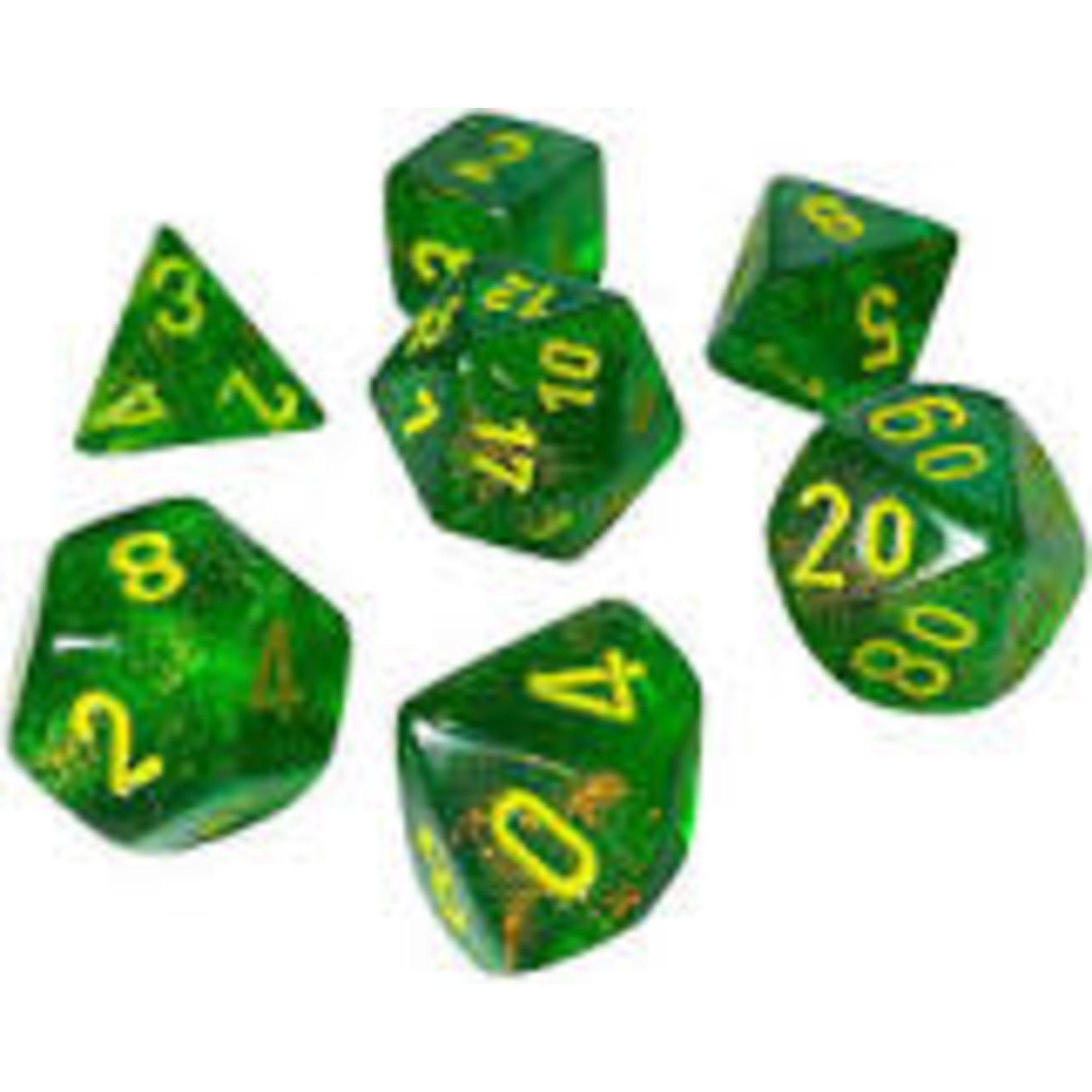Chessex Chessex 7-Set  Borealis - Maple Green/Yellow 27565