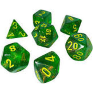 Chessex Chessex 7-Set  Borealis - Maple Green/Yellow 27565