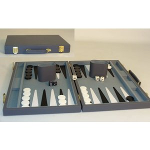 WorldWise Imports Backgammon (Grey Vinyl) 15""