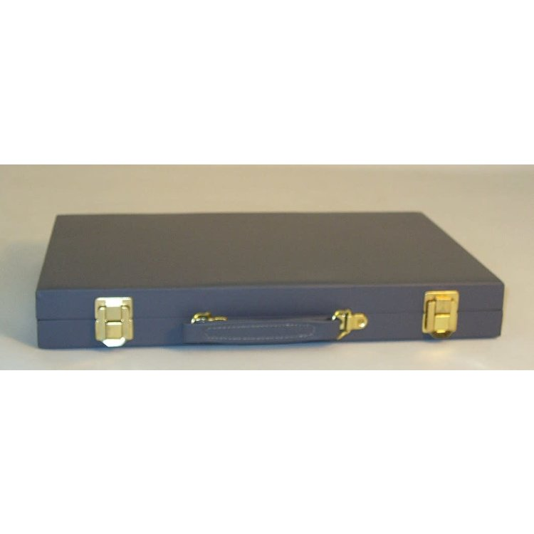 "WorldWise Imports Backgammon (Grey Vinyl) 18"""