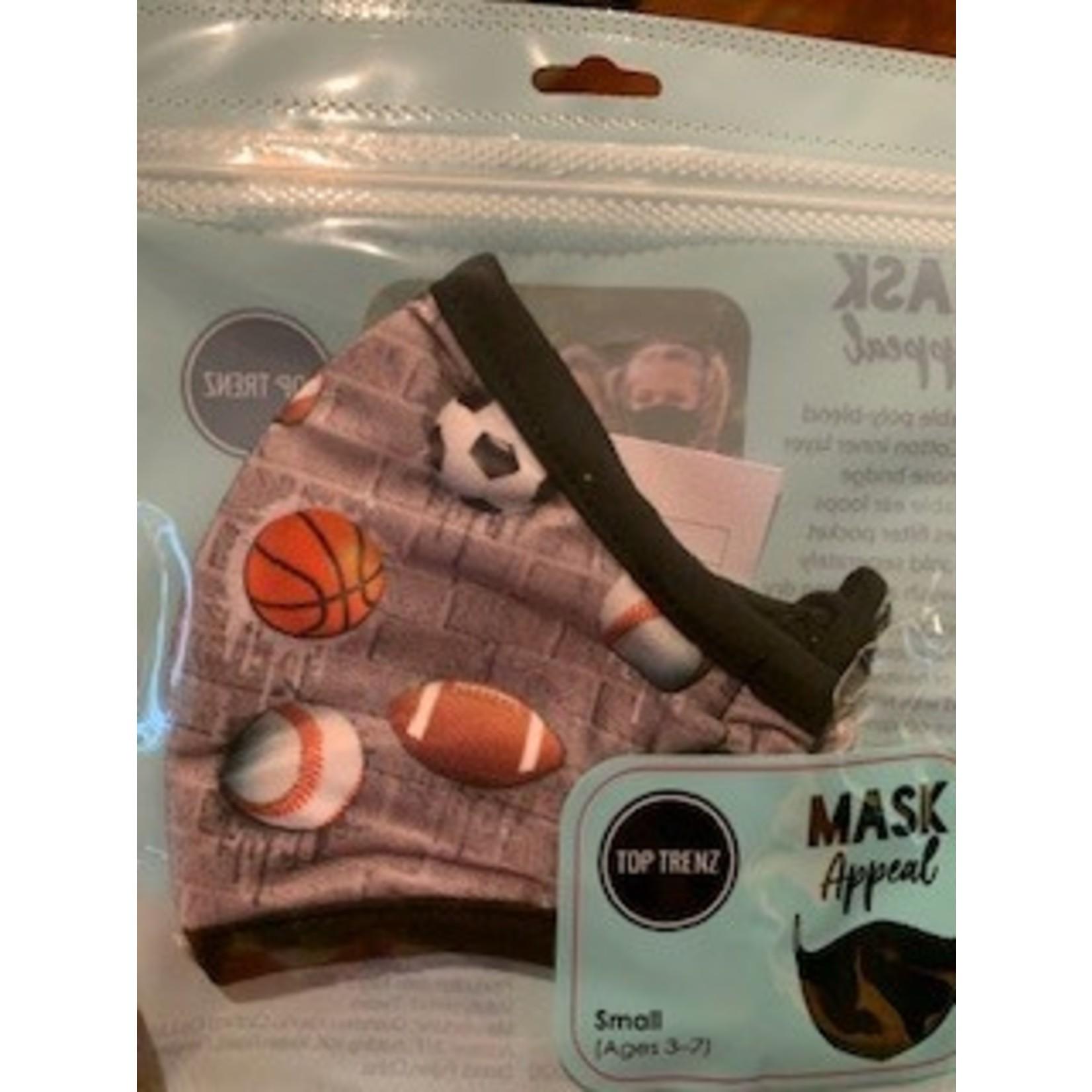 Top Trenz Reusable Children's (ages 3-7) Face Mask