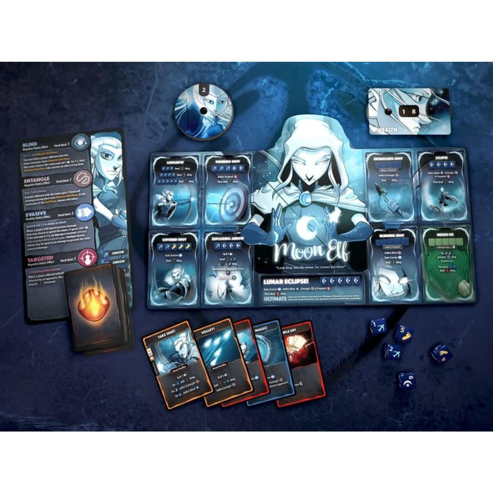 Roxley Games Dice Throne Season One: ReRolled Box 1 Barbarian v Moon Elf
