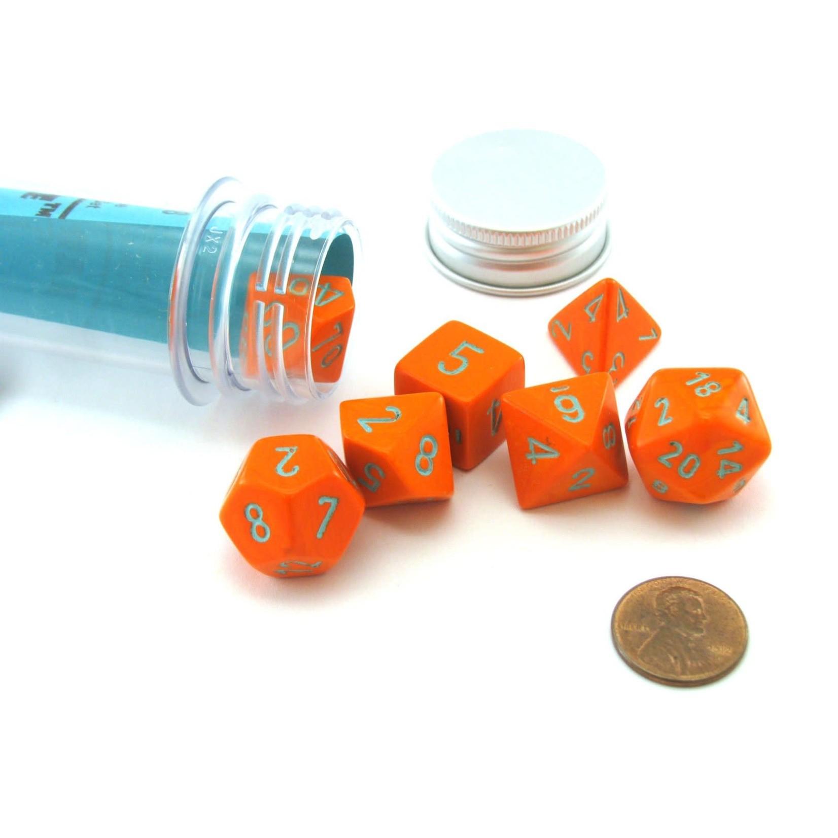 Chessex Chessex 7-Set Dice: Heavy - Orange/Turquoise 30038