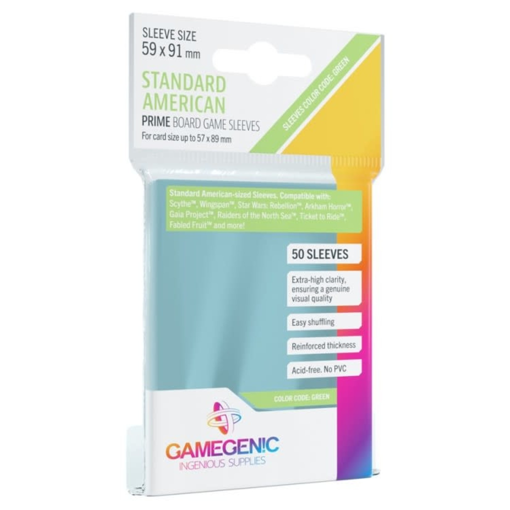 Gamegenic Gamegenic Sleeves: Standard American PRIME - 50 count (59x91mm)
