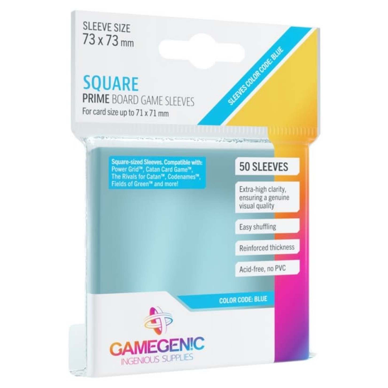 Gamegenic Gamegenic Sleeves: Square PRIME - 50 count (73x73mm)
