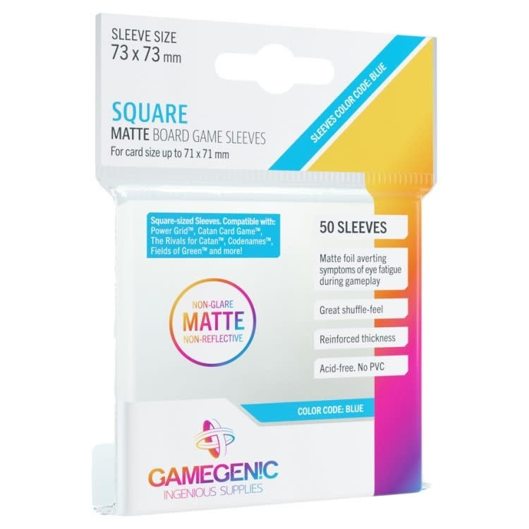 Gamegenic Gamegenic Sleeves: Square MATTE - 50 count (73x73mm)