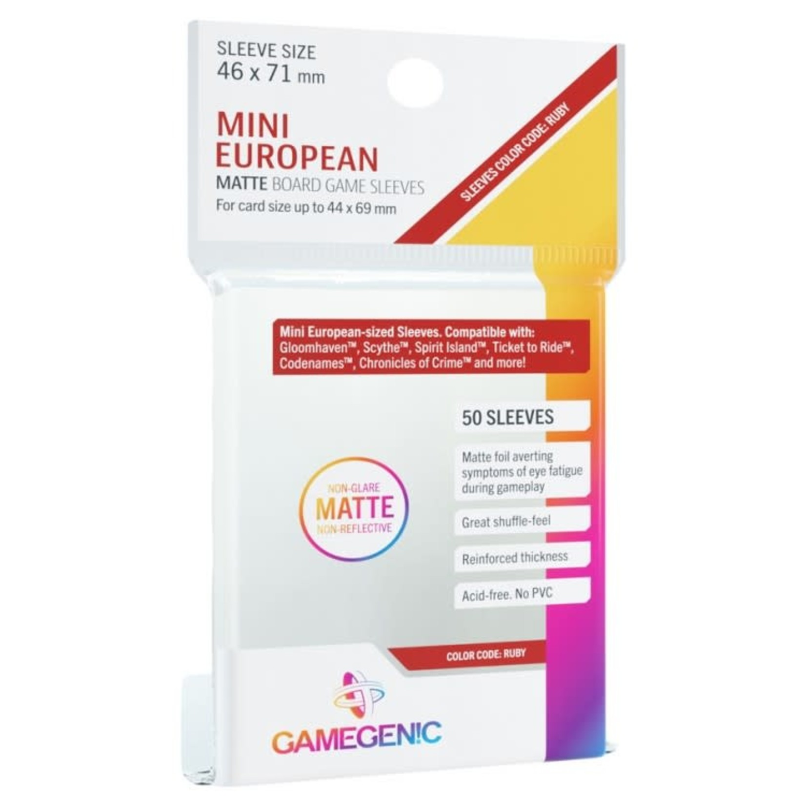 Gamegenic Gamegenic Sleeves: Mini European MATTE - 50 count (46x71mm)