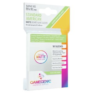 Gamegenic Gamegenic Sleeves: Standard American MATTE - 50 count (59x91mm)