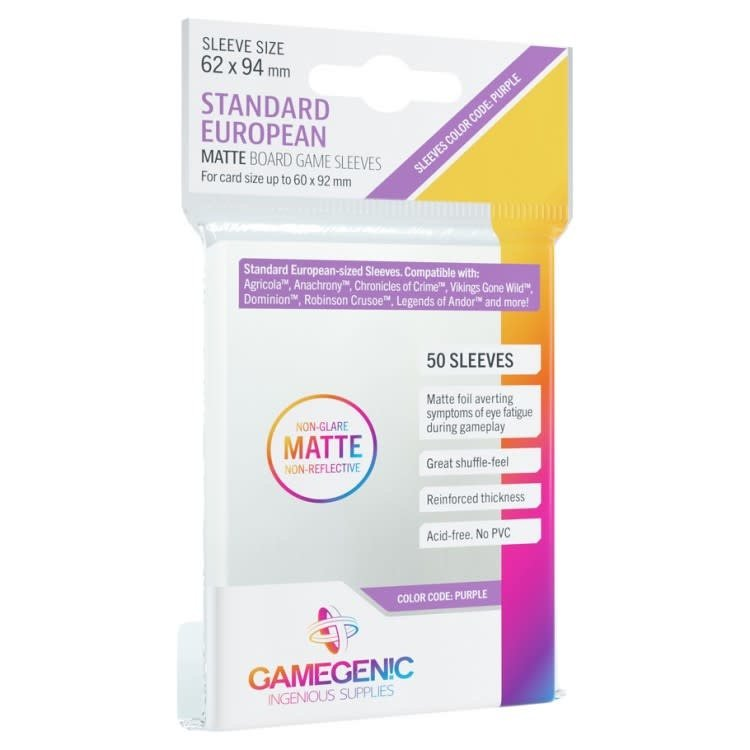 Gamegenic Gamegenic Sleeves: Standard European MATTE - 50 count (62x94mm)