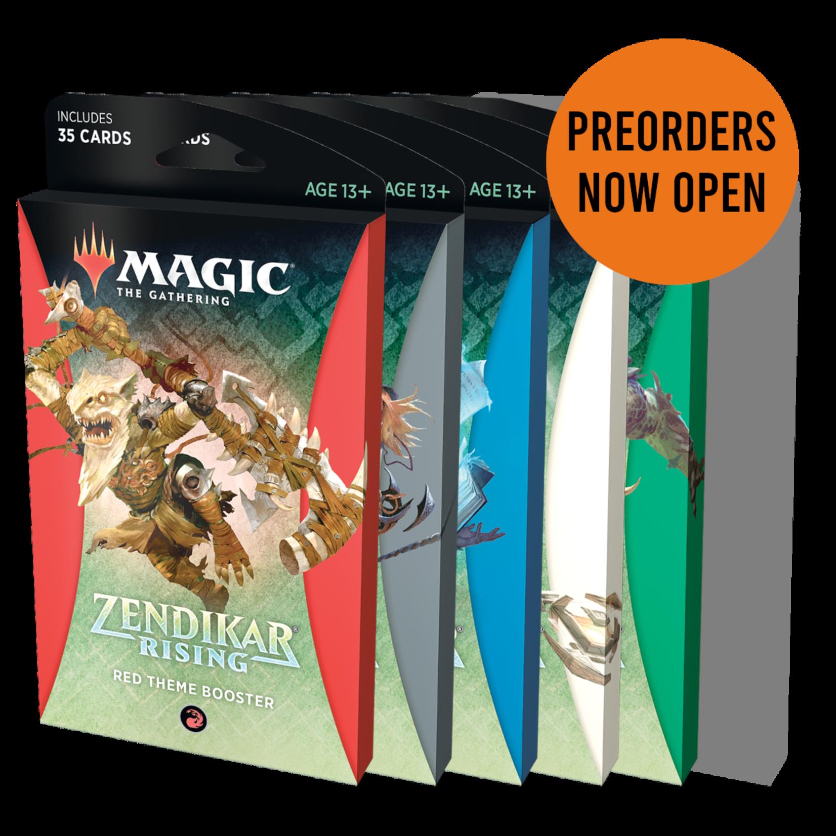 Wizards of the Coast Magic the Gathering: Zendikar Rising - Theme Booster - Set of 6 (Preorder)