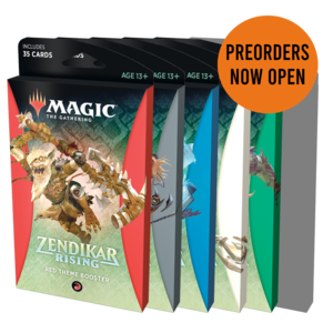 Wizards of the Coast Magic the Gathering: Zendikar Rising - Theme Booster - Set of 6 (Preorder)