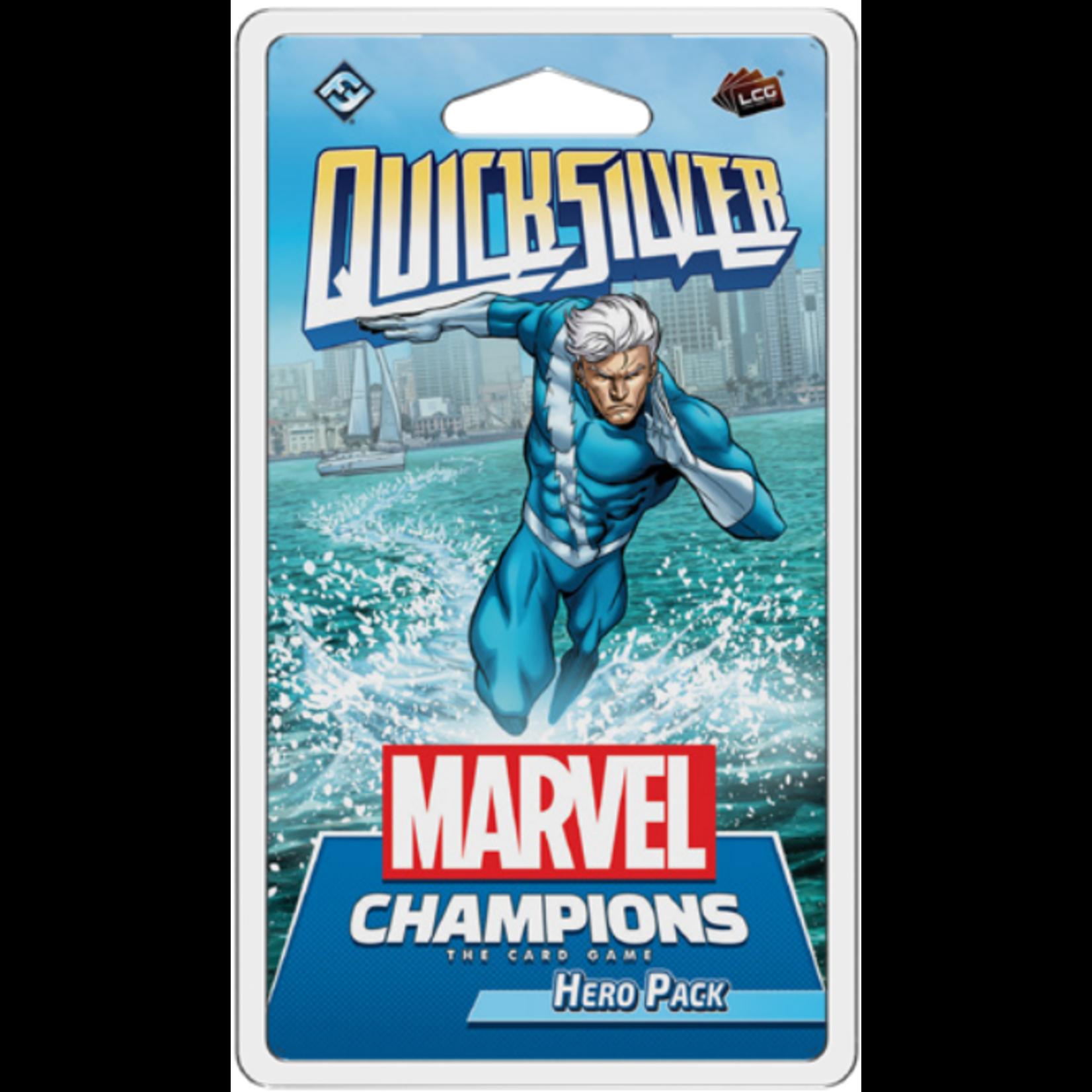 Fantasy Flight Games Marvel Champions Living Card Game: Quicksilver Hero Pack