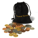 Forbidden Games Raccoon Tycoon: Metal Coin Set