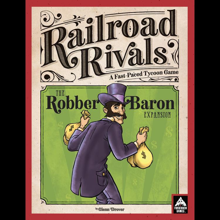 Forbidden Games Railroad Rivals: Robber Baron Expansion - Premium Wood Edition
